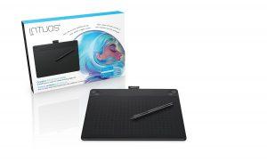 ワコム ペンタブレット Intuos Art ペン&タッチ 絵画・油彩制作用モデル Mサイズ ブラック CTH-690/K0
