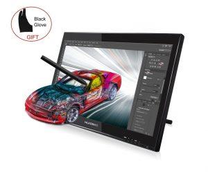 HUIONR プロ向け デジタルペン付けのグラフィックモニター - グローブ付け 液晶タブレットGT-190